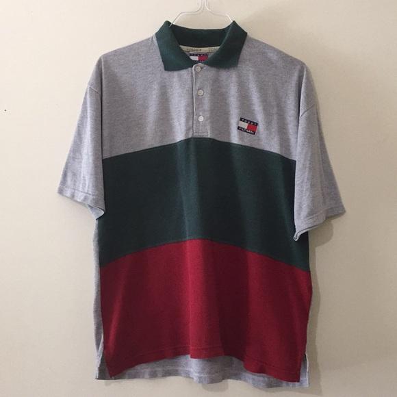 be2881f0c Rare Vintage Tommy Hilfiger Color Block Polo. M_5b7da0c374359b57011d5517